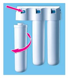 Корпус водоочистителя Аквафор Гросс Миди(10) соединение (переходник) 1 с модулем ПП